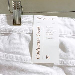 Coldwater Creek Jeans - Coldwater Creek White Crop Jeans Size 14